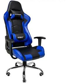 Cadeira Gamer Mymax Mx7 Giratória Preta/azul Nova Lacrado