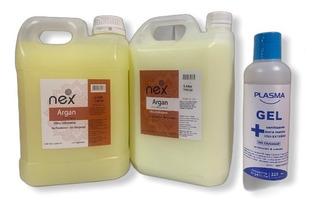 Kit Shampoo + Enjuague Nex 2 Lts + Sani. Alc. Gel