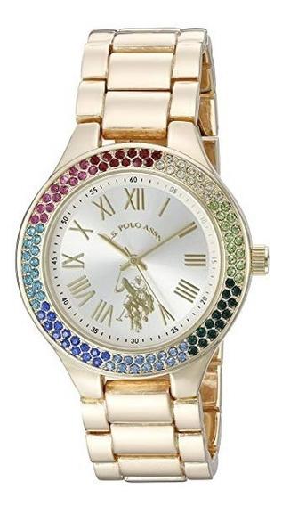 Relógio U.s. Polo Assn Usc40128 Az Feminino Original E.u.a