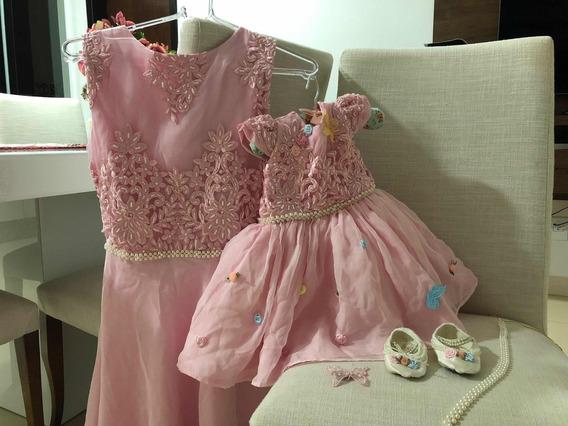 Vestido Mãe E Filha 1 Aninho (ateliê Zeuda Rebouças)