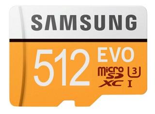 Cartão Micro Sdxc Samsung Evo 512 Gb Leitor Grátis P Entrega