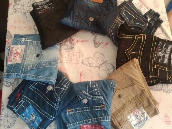 Lote De 2 Pantalon-jeans True Religion T-30 Solo Marzo