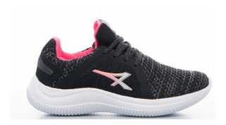 Zapatilla Athix Fit Negro Rosa Talle 36 37 38 39 40 Mujer