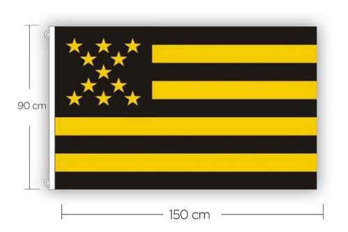 Bandera Peñarol Cap Tejida 150x90cm Con Ojales