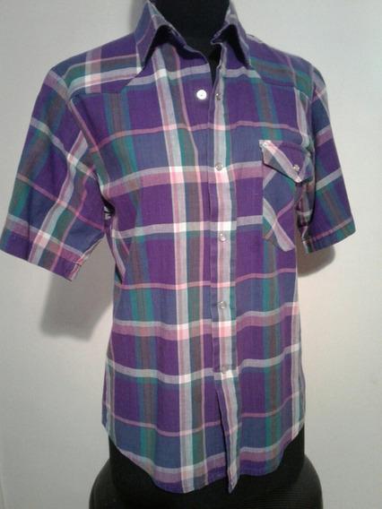Camisa Urbana Urbana Manga Corta Escoses Violeta T 1