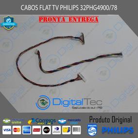 Cabo Flat Lvds + Cabo Alimentação Tv Philips 32phg4900/78