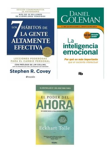 Imagen 1 de 1 de El Poder Del Ahora + Los 7 Hábitos + Inteligencia - Nuevos