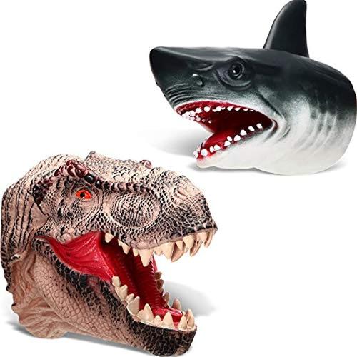 Imagen 1 de 7 de Marioneta De Mano De Tiburón Y Dinosaurio, Marca Pyle