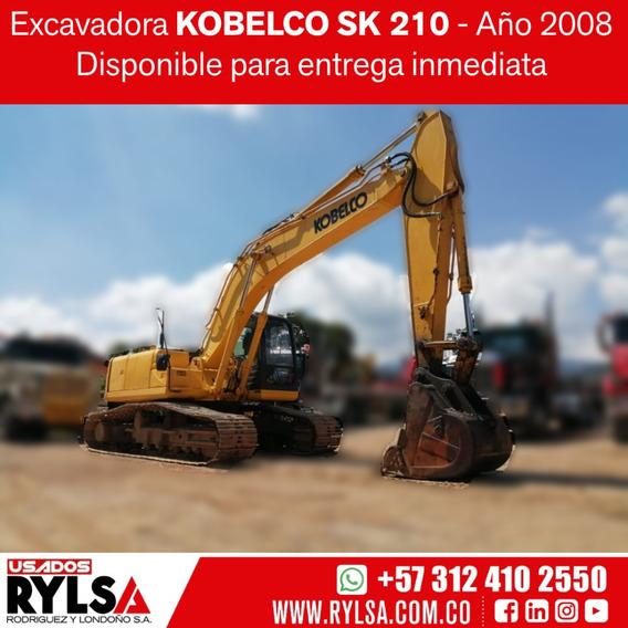 Excavadora Kobelco Sk 210 - Usada