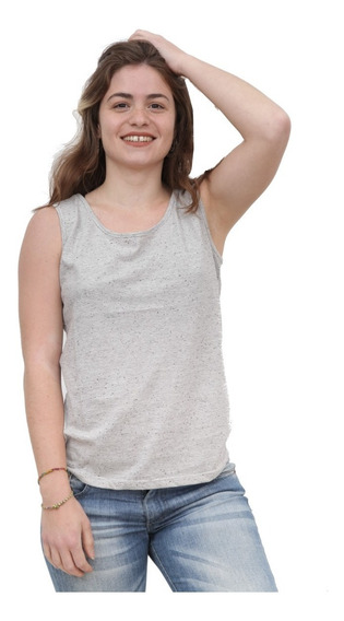 Remera Musculosa Mujer De Modal Jaspeado Art 2935