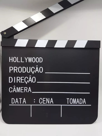 Kit 02(dois) Claquete 01 Porta Retrato E 01 Claquete Cinema