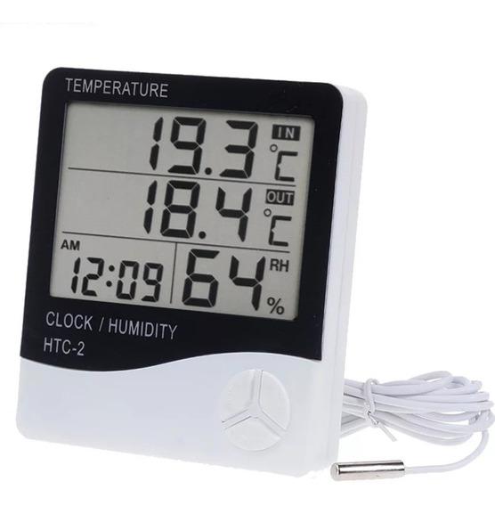 Termohigrómetro Htc-2 Digital Calibrado C Doble Certificado