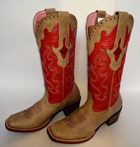 Bota Country Feminina Goyazes - Crazy Horse Areia - Num. 34