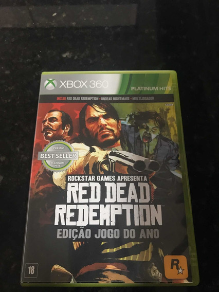 Jogo Xbox 360 Red Dead Redemption + Indead Nightmare Fisica