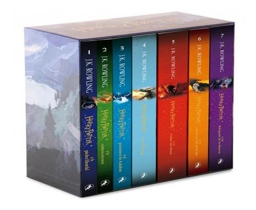 Saga Harry Potter Libro 1 Al 7 Con Estuche - J. K. Rowling B