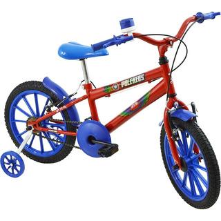Bicicleta Infantil Masculina Aro 16 Polikids Vermelha
