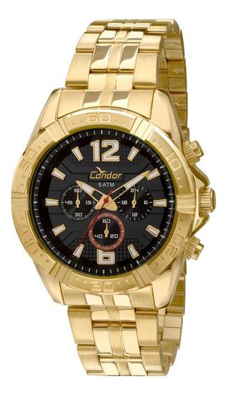 Relógio Condor Feminino Cronógrafo Dourado Covd54af/4p