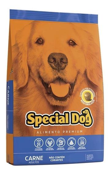 Ração Special Dog Carne 15kg+2 Pct Biscoitos Magnus Mix 500g