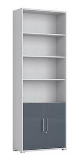Librero Con Puertas Moderno Estantes Blancos Tugow Envío Gratis