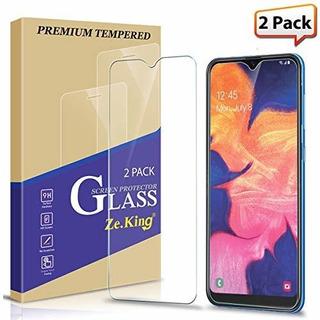 2 Unidades Samsung Galaxy A10 Protector De Pantalla De Crist