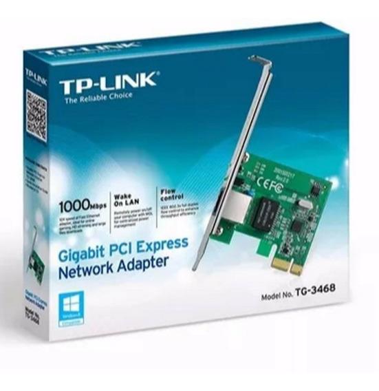 Placa De Rede Pci-e 10/100/1000 Mbps Tp-link Tg-3468