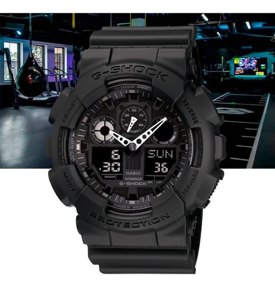 Relógio Casio G-shock Analógico Digital Ga-100-1a1dr Preto