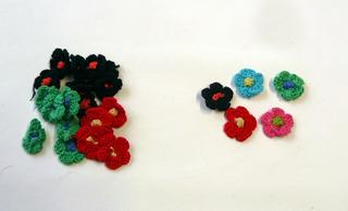 Flores De Crochet Ø 25mm - X 20 Unidades
