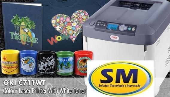 Impressora Oki C711wt Toner Branco Nova C/garantia