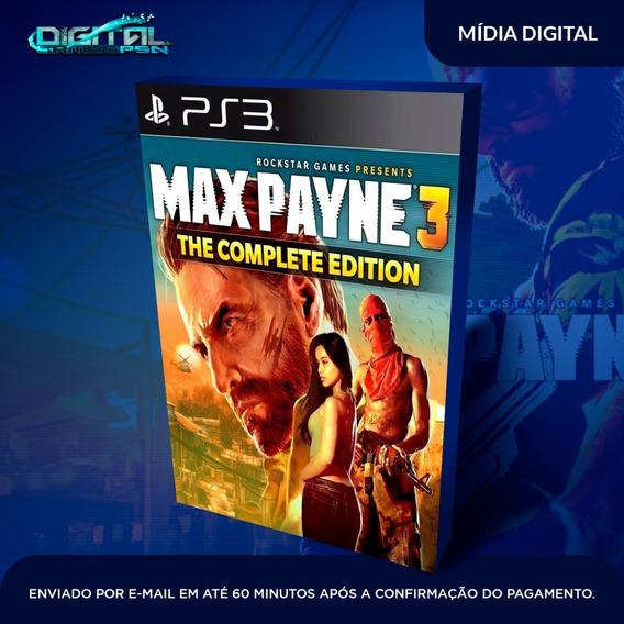 Max Payne 3 The Complete Edition Ps3 Jogo Digital Em 30min!