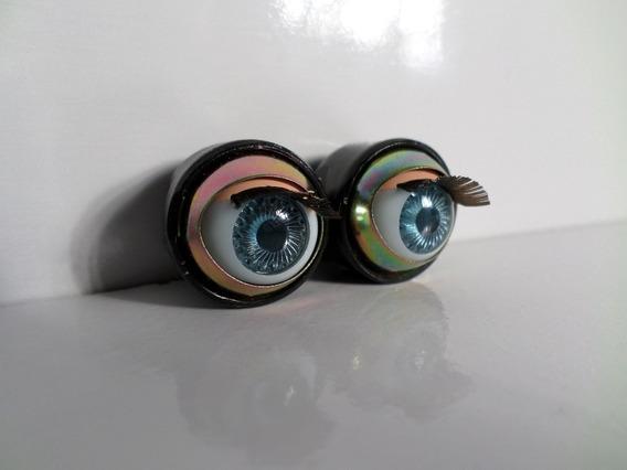 Par De Olhos Azuis Boneca Antiga Tamanho 14 Bebe Reborn