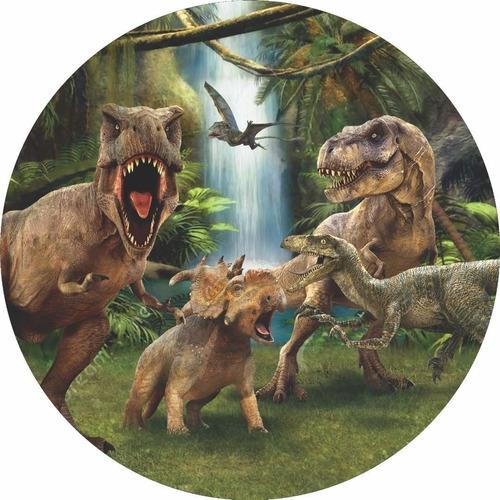 Painel Redondo Tecido 3d Dinossauro Full Wrd-1674 - 1,5 Diâm