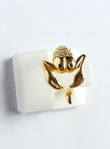 Anel Com Pedra De Zirconia Banhado A Ouro 18k