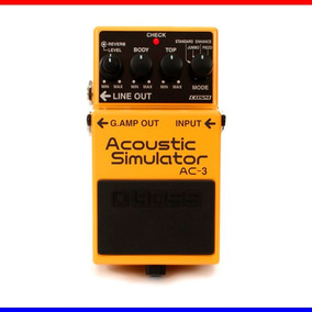 Pedal Boss Ac-3 Acoustic Simulator + Fonte + Cabo