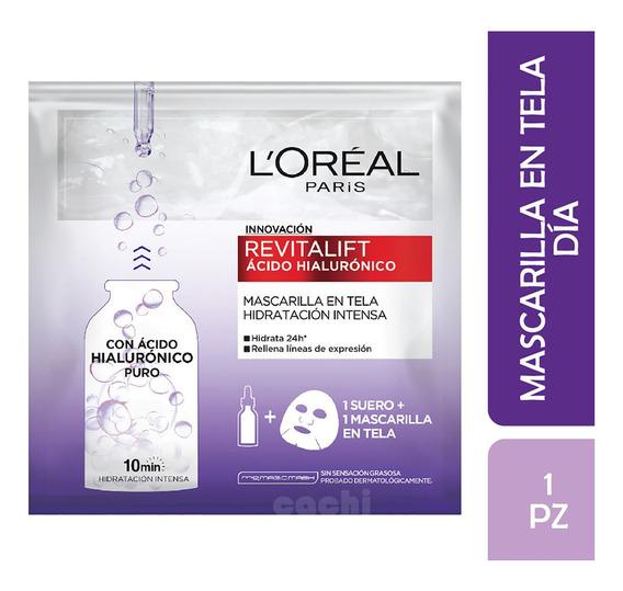 Máscara Loreal Revitalift Ácido Hialurónico Puro 10ml X 1