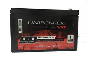 Bateria 12v 7ah Up1270seg Unipower , Nobreak / Alarme