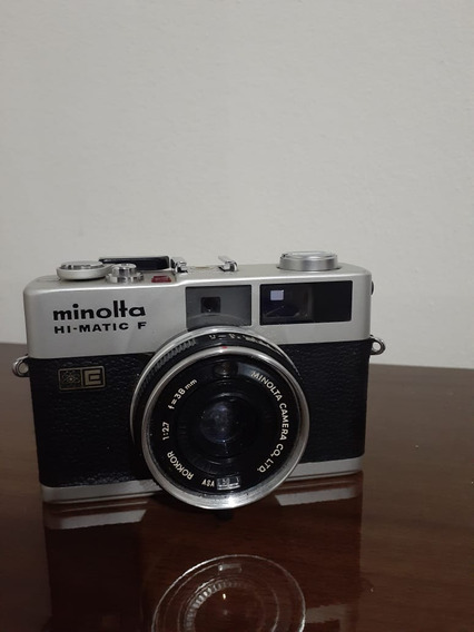 Camera Minolta Hi-matic F 1972 Antiga...