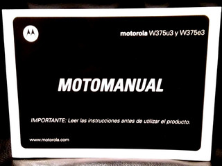 Manual Motorola W375 ( En Español )