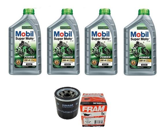 Kit Troca Oleo/filtro Fram Kawasaki Z-1000 (mobil Mx10w-40)