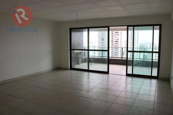 Apartamento Com 4 Dormitórios À Venda, 204 M² Por R$ 1.200.000 - Casa Forte - Recife/pe - Ap3699
