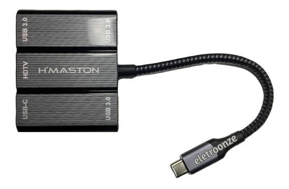 Adaptador Type-c -hdmi 4k/ 3 Usb3.0 Para Celular Macbook