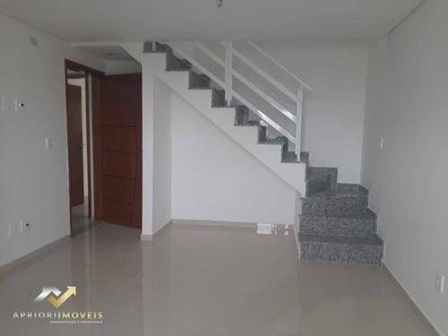 Cobertura Com 2 Dormitórios À Venda, 107 M² Por R$ 390.000,00 - Vila Marina - Santo André/sp - Co1015