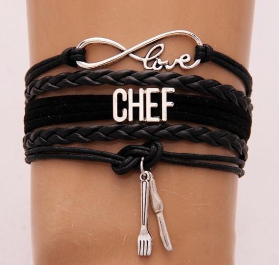 Brazalete Infinito Love Chef Negro