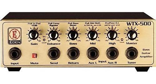 Amplificador Para Bajo Eden Wtx500 Cabezal 500watts