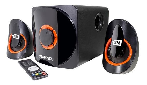 Caixa Som Sumay Home Teacher Sm-cs3313b Bluetooth