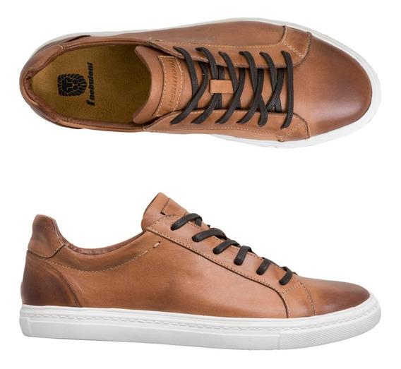 Zapato Hombre F.nebuloni Deportivo En Cuero Color Adobe