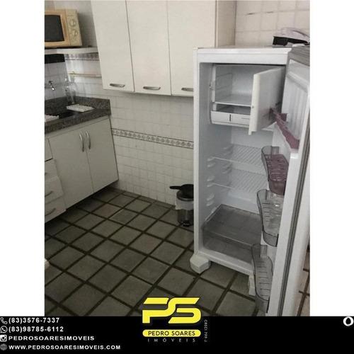 Apartamento Mobiliado Com 1 Dormitório Para Alugar, 40 M² Por R$ 1.200/mês - Manaíra - João Pessoa/pb - Ap4927