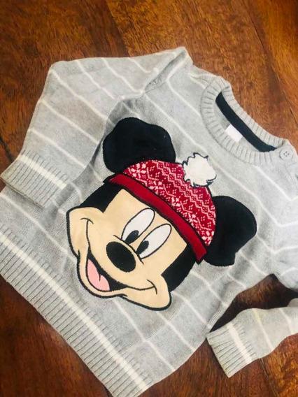 Suéter Niño Importado De Mickey Mousse 9 Meses