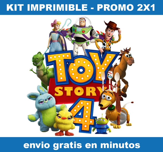 Kit Imprimible Toy Story 4 Candy Bar Promo 2x1