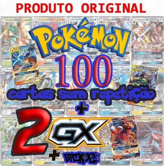 Lote 100 Cartas Pokemon+2gx