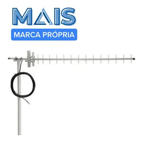 Antena Externa Gsm 3g 15dbi Para Celular + Cabo 10 Metros